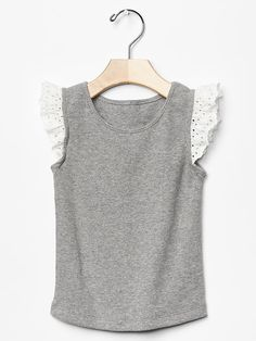 Eyelet lace flutter tee Product Image