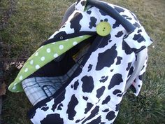 Carseat Canopy Cow Print with Lime Dots by fashionfairytales Be My Baby, Baby Love, Baby Boy Car Seats, Poor Children, Cow Print, Baby Prints, Baby Sewing, Gifts For Family, Future Baby