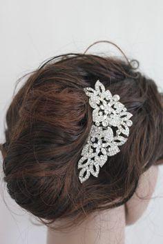 Vintage inspired wedding hair combbridal hair by Angelbridalshop, $45.00