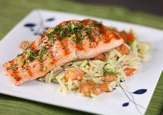 Grilled Salmon with Orzo Salad Recipe | SAVEUR