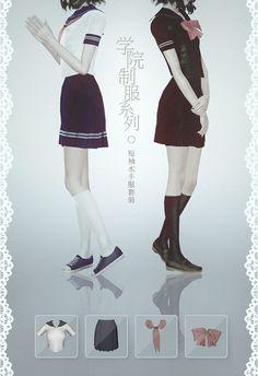 Sailor Moon School Uniforms - mussi-simblr