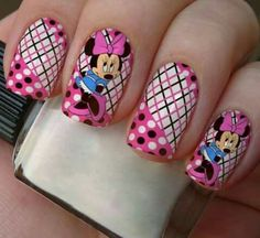Minnie Mouse Nails, Mickey Mouse, Classroom Themes, How To Do Nails, Cute Nails, You Nailed It, Nail Designs, Make Up, Nail Art