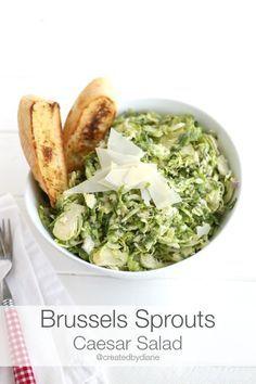 Brussels Sprouts Caesar Salad @createdbydiane