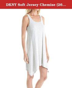 DKNY Soft Jersey Chemise (2613308) L/Light Grey Heather. 94% Pima Cotton 6% Spandex. Machine Wash. Imported.