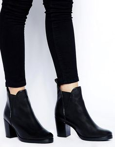 acc686ad6 ASOS   ASOS ROAD RAGE Leather Ankle Boots at ASOS Flat Boots, Black Ankle  Boots