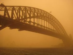 Sidney, Australia dust storm.