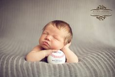 I couldn't find a classic baseball image for a newborn so I created one today! Enjoy for anyone looking for inspiration! #newborn, #newbornbaseball @Kansas Pitts