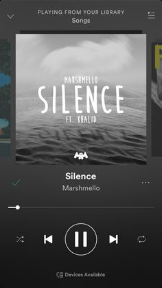 Silence (feast. Khalid) - Marshmello insta@carolyn_blank Sound Of Music, New Music, Good Music, Khalid, Music Songs, Music Videos, Silence, Song Suggestions, Aesthetic Songs