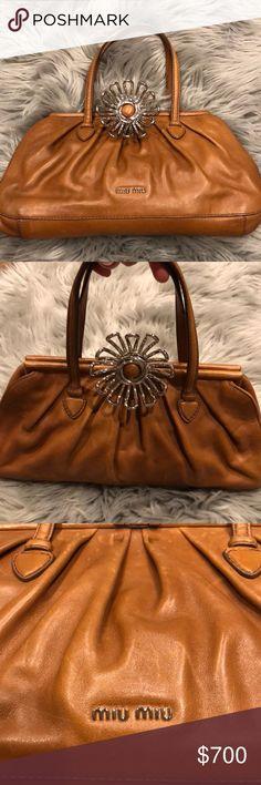 1345ff19fa Authentic Miu Miu leather handbag purse NEW