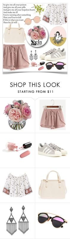 """SheIn♥ :)"" by av-anul ❤ liked on Polyvore featuring Diane James, adidas, MANGO, Emperia, House of Harlow 1960, Linda Farrow, shein and avanul"