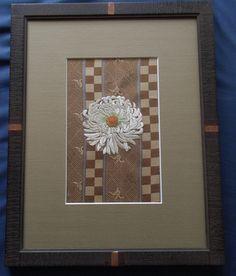 日本刺繍-白菊