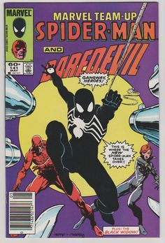 Marvel TeamUp V1 141. NM. May 1984. Marvel by RubbersuitStudios #spiderman #venom #comicbooks