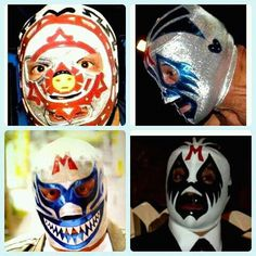 Luchador Mask, Mexican Wrestler, Tiger Mask, Pumas, Professional Wrestling, Chicano, Goat, Halloween Face Makeup, Funny Pictures