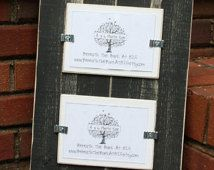 Picture Frame - Distressed Wood - Holds 2 - 4x6 Photos - Smooth Wood - Black & White