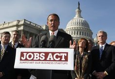 PASSED: JOBS Act - The House overwhelmingly approved a measure Tuesday designed to make it easier for growing companies to attract investors and comply with securities laws. The bipartisan measure, strongly backed by both parties and the White House, passed 380 to 41.