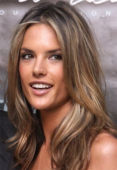 SUBTLE brown with blonde highlights love love love Alessandra ambrosio