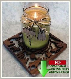 Moose Candle Tray