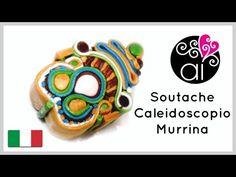 Polymer Clay Tutorial   Murrina Soutache Caleidoscope   DIY Millefiori Cane - YouTube
