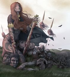 female celtic warriors | Celtic warrior queen by americanvendetta