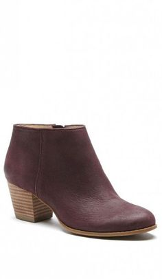 f0515c0871aac9 Wine-colored ankle bootie crafted from luxurious