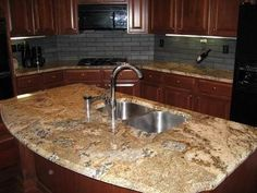 hickory cabinets with lapidus brown laminate - Google Search