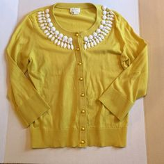 """Kate Spade Live Colorfully Beaded Cardigan Size M Unworn """"Caroline"""" cardigan in beautiful condition. One white bead starting to slip - see photo. Other than that perfect. Color is morning glory and sold out. kate spade Sweaters Cardigans"""