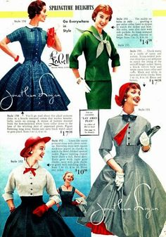 Lana Lobell Catalog - Spring and Summer Fashion Sonata, from what-i-found blog. Has ephemera from other time periods too.