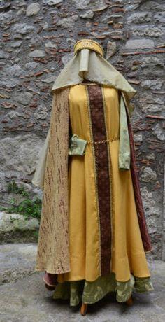 Abito-medievale-XII-secolo-Donna-Taglia-M-L-Rievocazione-Storica