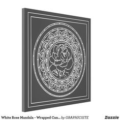 Shop White Rose Mandala - Wrapped Canvas created by GRAPHICSITE. Mandala Rose, Geometric Mandala, Mandala Design, Cherished Memories, Color Effect, Vacation Pictures, Beautiful Moments, White Roses, Wrapped Canvas
