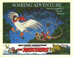 The Rescuers Disney Movie Poster Quad