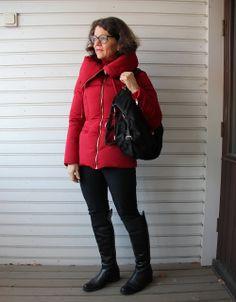 Red wintercoat
