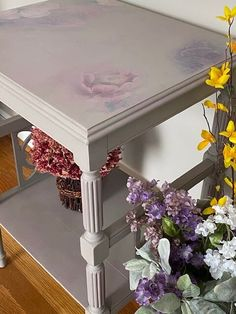 Create Your Own, Create Yourself, Painted Tables, Painting Techniques, Van Gogh, Chalk Paint, Painted Furniture, Entryway Tables, Hand Painted