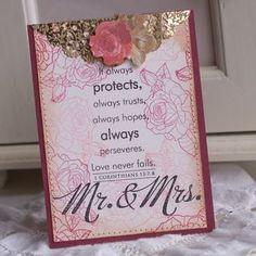 Stylish wedding card