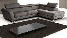 J&M Sparta Mini Sectional Right Grey