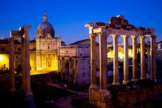 Photo 4 - Roman Forum at Dusk by Andrea Anastasikis    To vote for this photo, please leave a comment - including the photo number - on  http://www.wild-about-travel.com/2012/06/photo-contest-share-vote-favorite-pictures/
