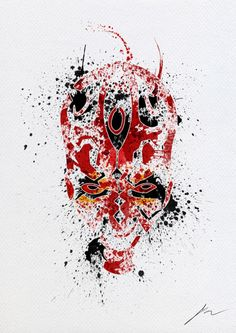Star Wars Abstract Paint Splatter Portraits   Walyou
