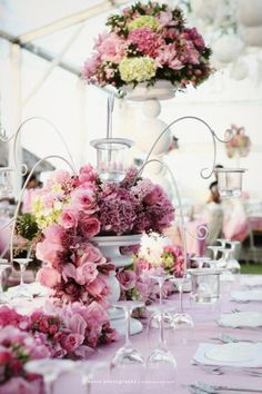 Beautiful Wedding Reception Decoration Ideas - Put the Ring on It Tent Wedding, Wedding Tips, Wedding Events, Wedding Planning, Dream Wedding, Weddings, Flower Decorations, Wedding Decorations, Wedding Themes