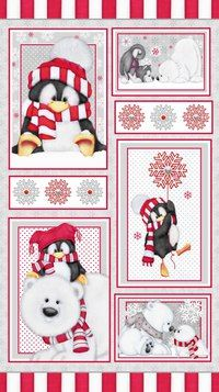 Anniversary Sale Arctic Antics Flannel Panel x Christmas Cotton Fabric by~Henry Glass~Fast Shipping Christmas Rock, Christmas Paper, Christmas Pictures, Christmas Crafts, Christmas Ornaments, Christmas Drawing, Christmas Paintings, Origami, Panel Quilts