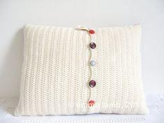 Lillian... tiny squares patchwork crochet cushion by emmalamb