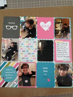 Hello Glasses. Scrapbook layout using Project Life Blush Core kit by Mandy Reedyk (kidscollage)