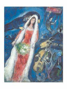 Marc Chagall - La Mariee, 1950