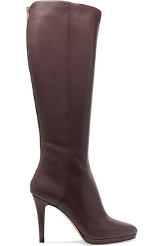 JIMMY CHOO Textured-leather knee boots. #jimmychoo #shoes #boots