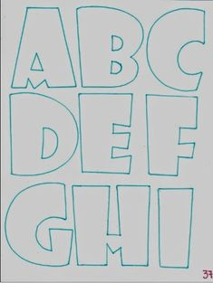 Graffiti Lettering, Brush Lettering, Typography, Bubble Letter Fonts, Alphabet Templates, Alphabet And Numbers, Letter Art, Coloring Pages, Doodles