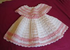 VillaTuta: Virkattu vauvan mekko Baby Dress, Crochet Baby, Summer Dresses, Beauty, Ideas, Fashion, Knitted Baby, Dresses For Babies, Patterns