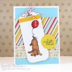 Dachshund Card by Jennifer Jackson | Delightful Doxies stamp set by Newton's Nook Designs