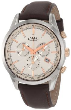 Rotary Men's GS00043/02 Timepieces Classic Strap Watch Rotary. $238.50. Brown strap, date; Swiss made. Case diameter: 42 mm. Water-resistant to 330 feet (100 M). Three chronograph dials. Quartz movement. Save 61% Off!