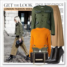 Get the Look: London Fashion Week FW 2015 Street Style by alaria on Polyvore featuring Acne Studios, Golden Goose, N°21, Yves Saint Laurent, Valentino, StreetStyle and londonfashionweek