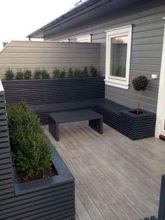 Cool Modern Small Terrace Gardening Ideas Can Copy ., Informations About Cool Modern Small Terrace Gardening Ideas Can Copy Small Patio Design, Back Garden Design, Terrace Design, Backyard Patio Designs, Backyard Landscaping, Backyard Ideas, Modern Garden Design, Modern Patio, Patio Ideas