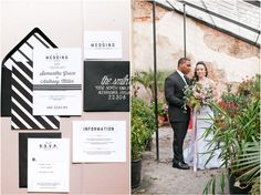 a rustic outdoor wedding ceremony and wedding at Oatlands Plantation in Leesburg, Virginia featuring graphic wedding inspiration in black, white, and blush.