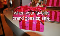 When your favorite brand goes on sale